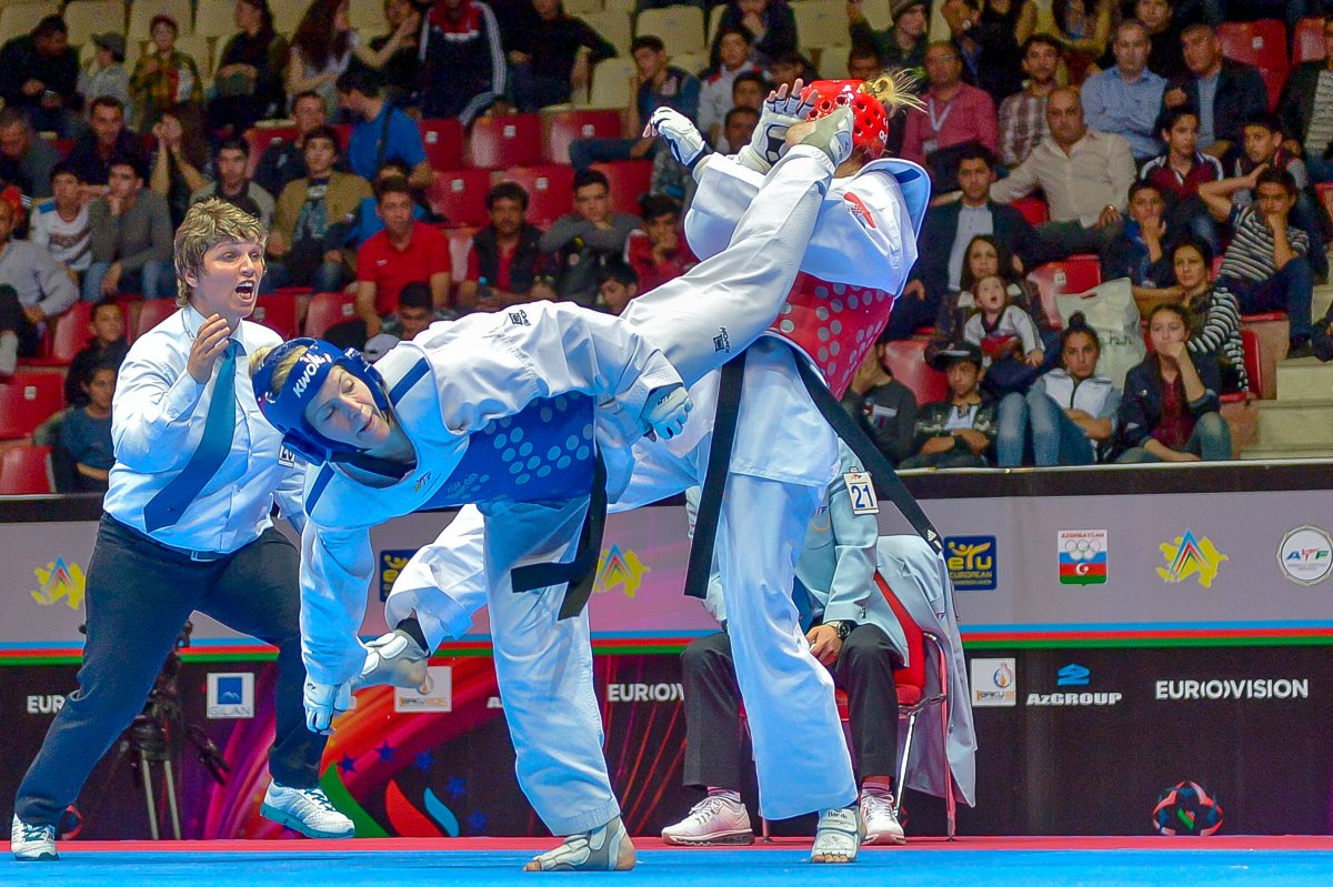 Photo during the European Taekwondo Championships in Baku 2014