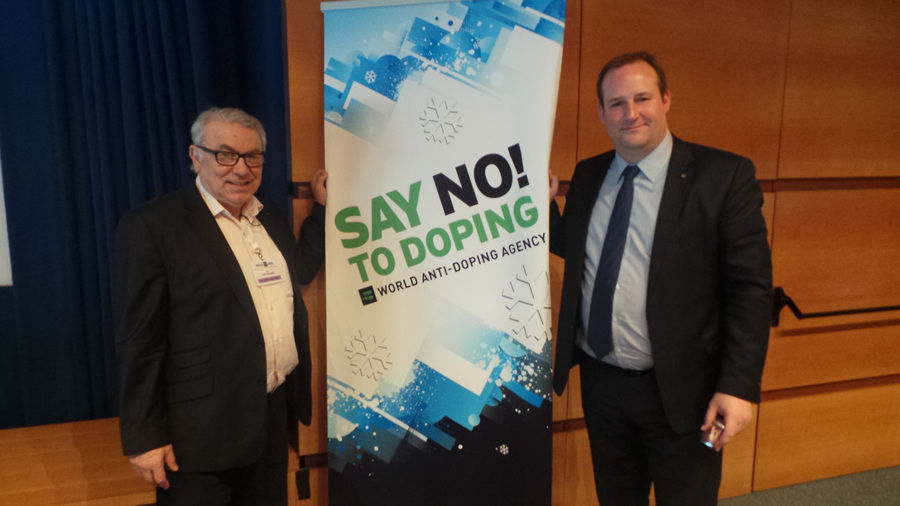 Dr. Paul Viscogliosi (WTF Medical & Anti-Doping Committee Chairman with Frédéric Donzé, Director of WADA's European Regional Office and IF Relations