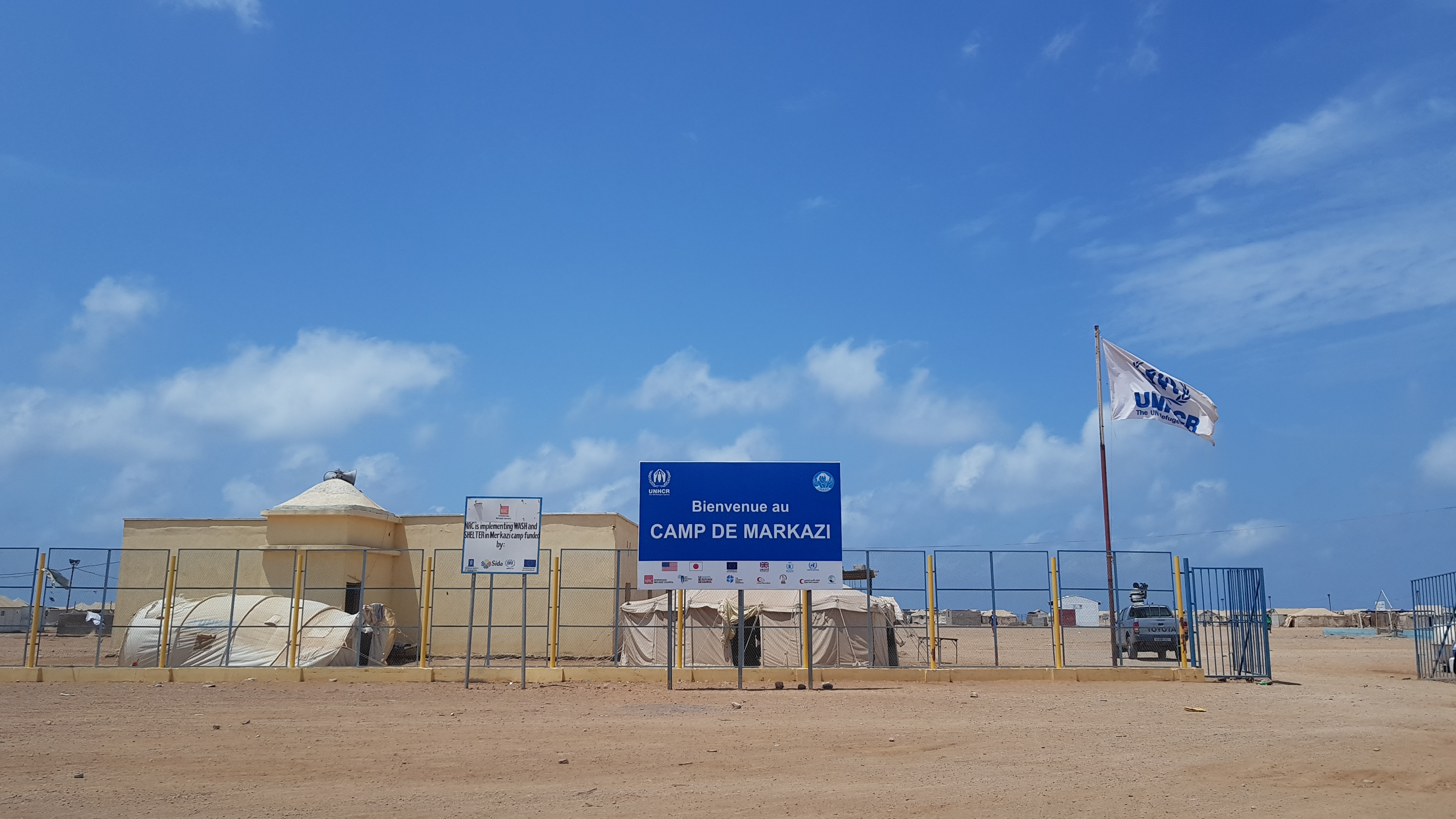 Markazi Refugee Camp located in Obock, Djibouti which is the home of around 1,500 Yemenese refugees