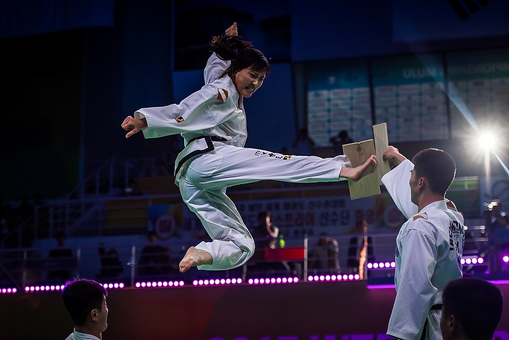 ITF Demonstration Team performs during the closing ceremony