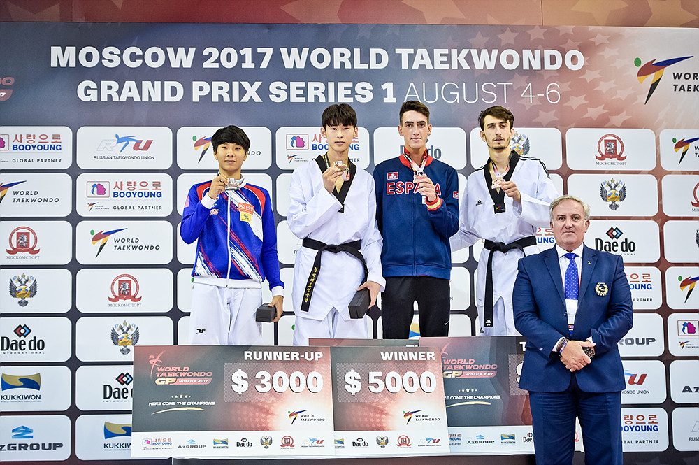 Moscow_2017_WT_GP_M-58kg_medal_list