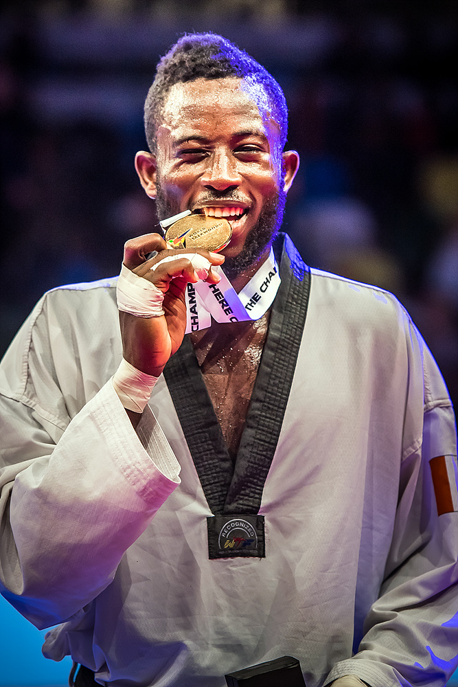 Cheick Sallah Cisse (CIV)- the gold medalist of M-80kg