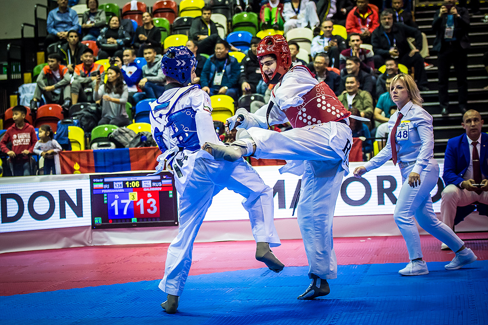 Mahdi Pourrahnama (IRI) vs. Magomedzagir Isaldibirov (RUS) in the final match of K44 M-75kg (2)