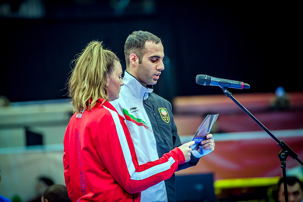 Opening Ceremony - Amy Truesdale (GBR) and Mahdi Pourrahnama (IRI)