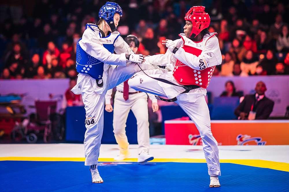 Ruth Gbagbi (CIV) vs. Yunfei GUO (CHN) durnig the final match of W-67kg