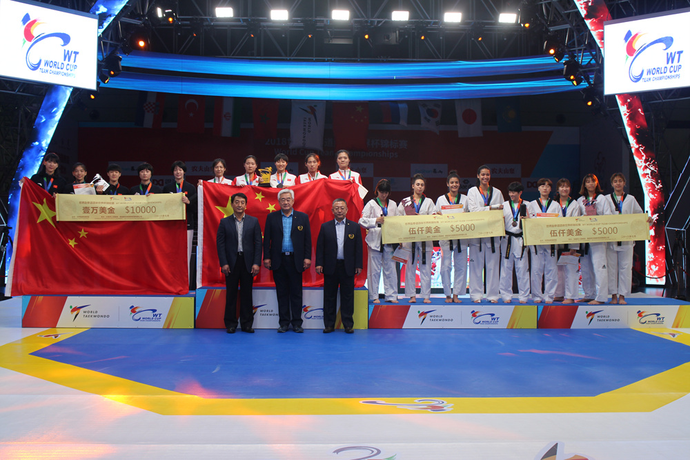 Awarding Ceremony of Women's Team
