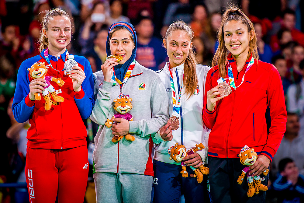 YOG (10.10.2018) Evening-58_Women -63kg Medalists