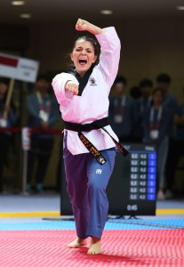 Adalis MUNOZ (USA) earned gold on Freestyle Individual Female Over 17 at Day 1