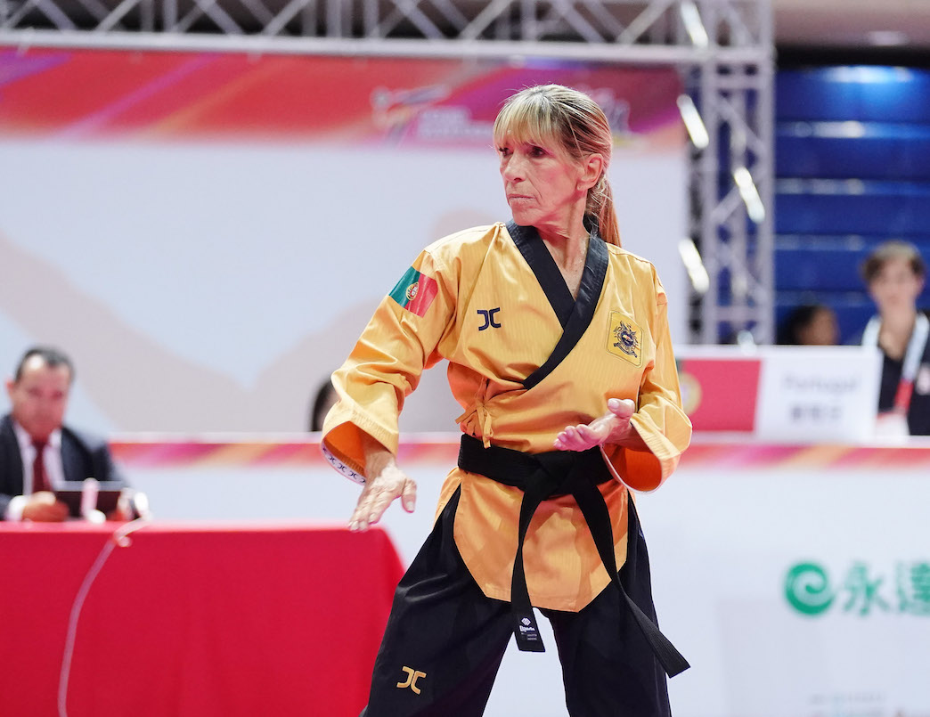 Eduarda Ferraz earned gold on recognized poomsae individual female over 65 at day 4