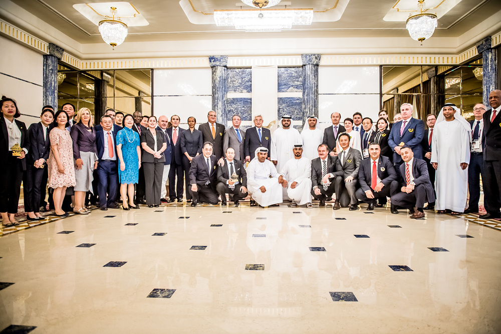WT President, Council members and Fujairah Crown Prince at the Rumailah Palace in Fujairah
