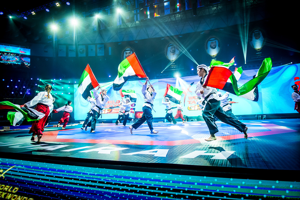 WT demonstration team's performance at the opening ceremony