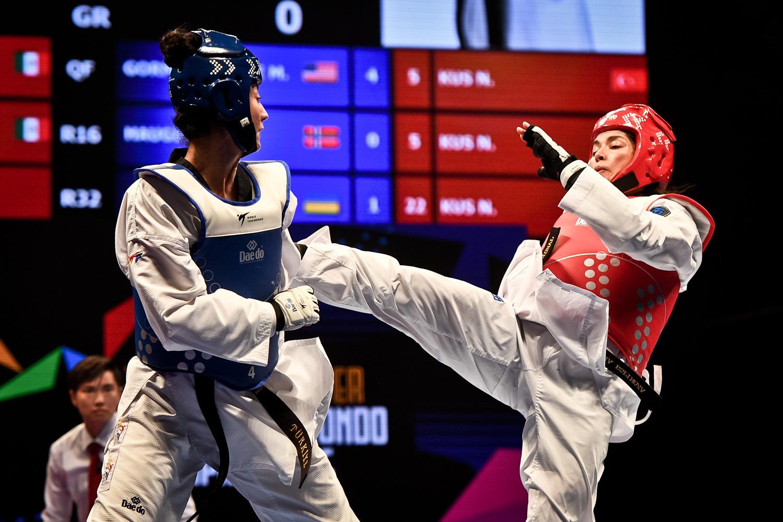 Maria ESPINOZA (MEX) beat Nafia KUS (TUR) at W-73kg on semi-final match