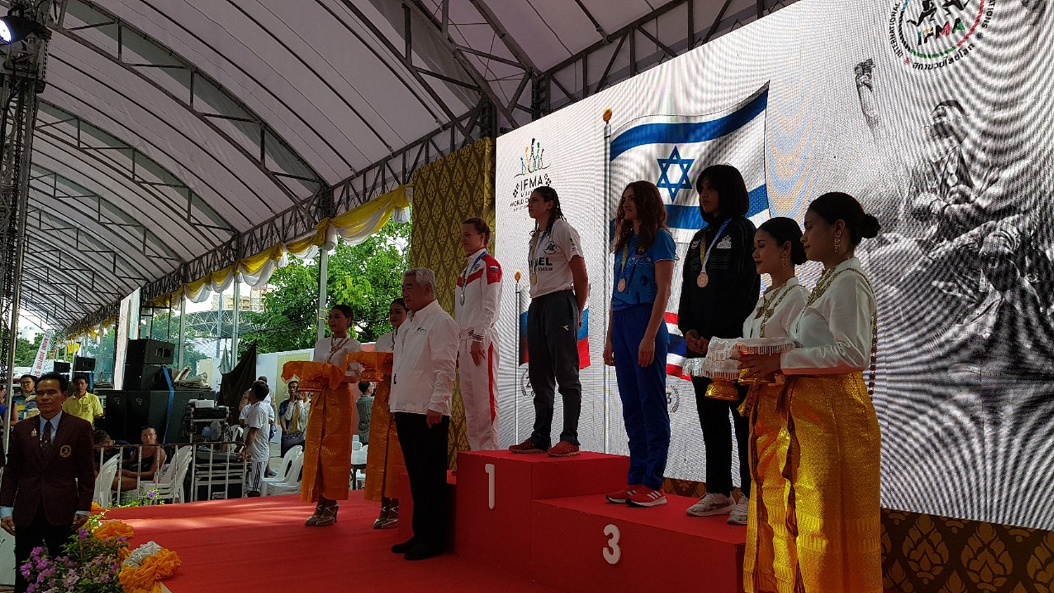 20190728-President awards medals for IFMA World Championss