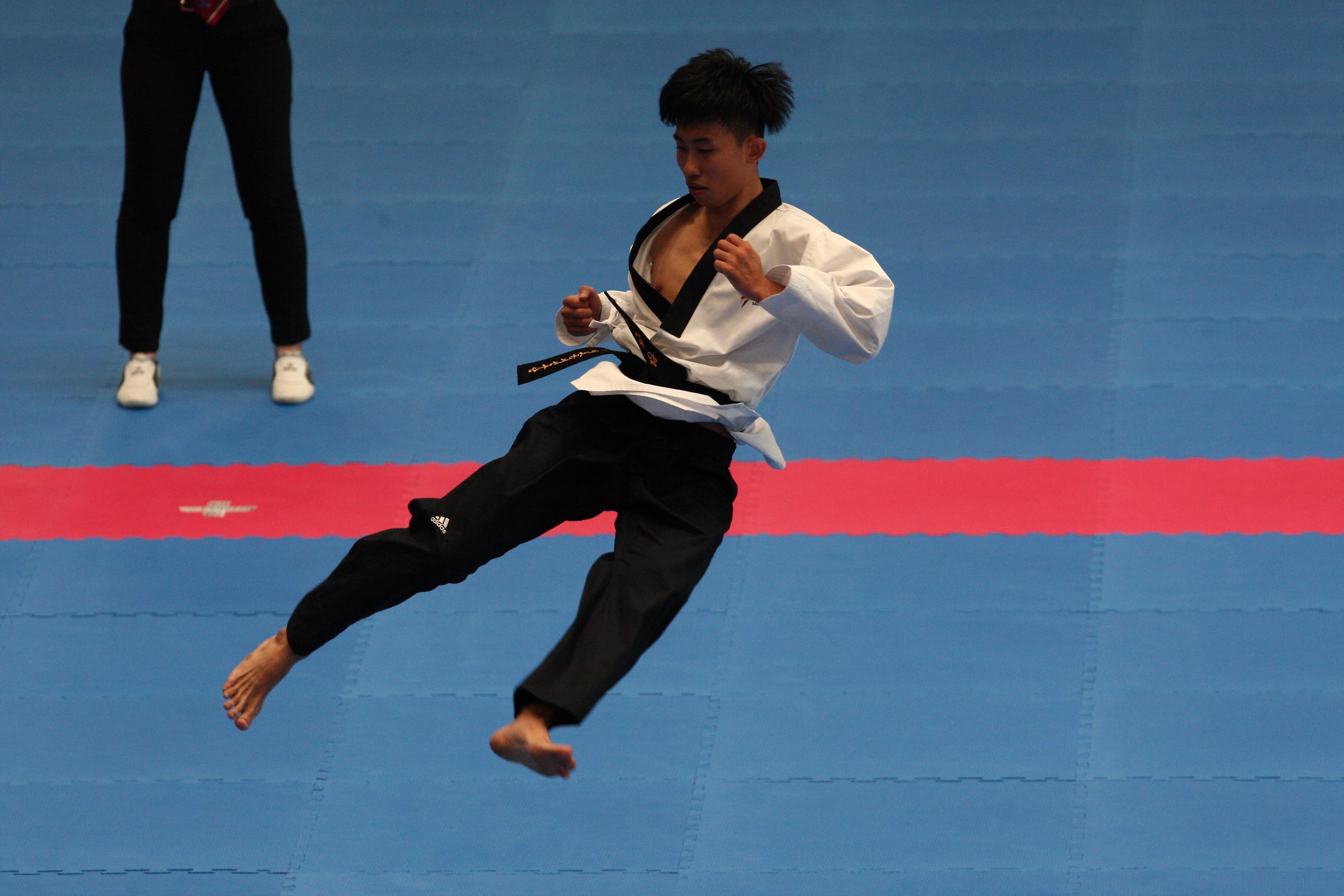 Pala Casoria finali di Taekwondo Kang Wanjin Korea , Napoli 7 Luglio 2019 Photo pool fotografi Universiadi