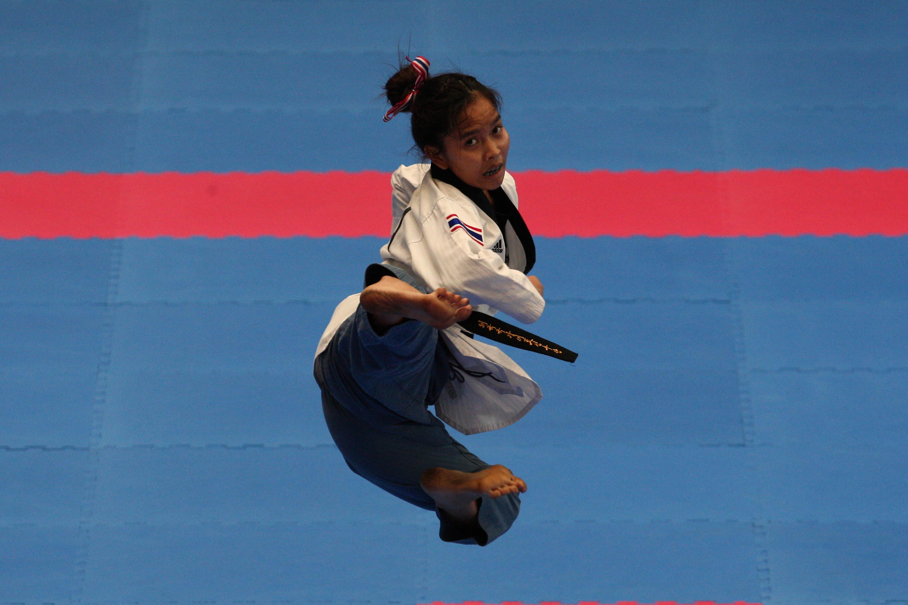 Pala Casoria finali di Taekwondo Laousungnoen Sakuna Thailandia , Napoli 7 Luglio 2019 Photo pool fotografi Universiadi