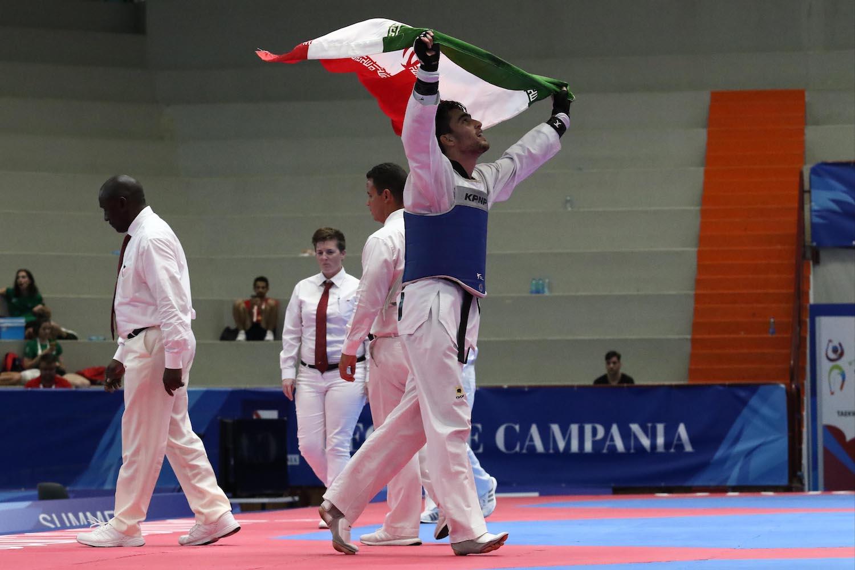 Finali di Taekwondo Bakhshikalhori Amirmohammad IRI ), Pala Casoria, Napoli 11 Luglio 2019 PHOTO POOL FOTOGRAFI UNIVERSIADE 2019
