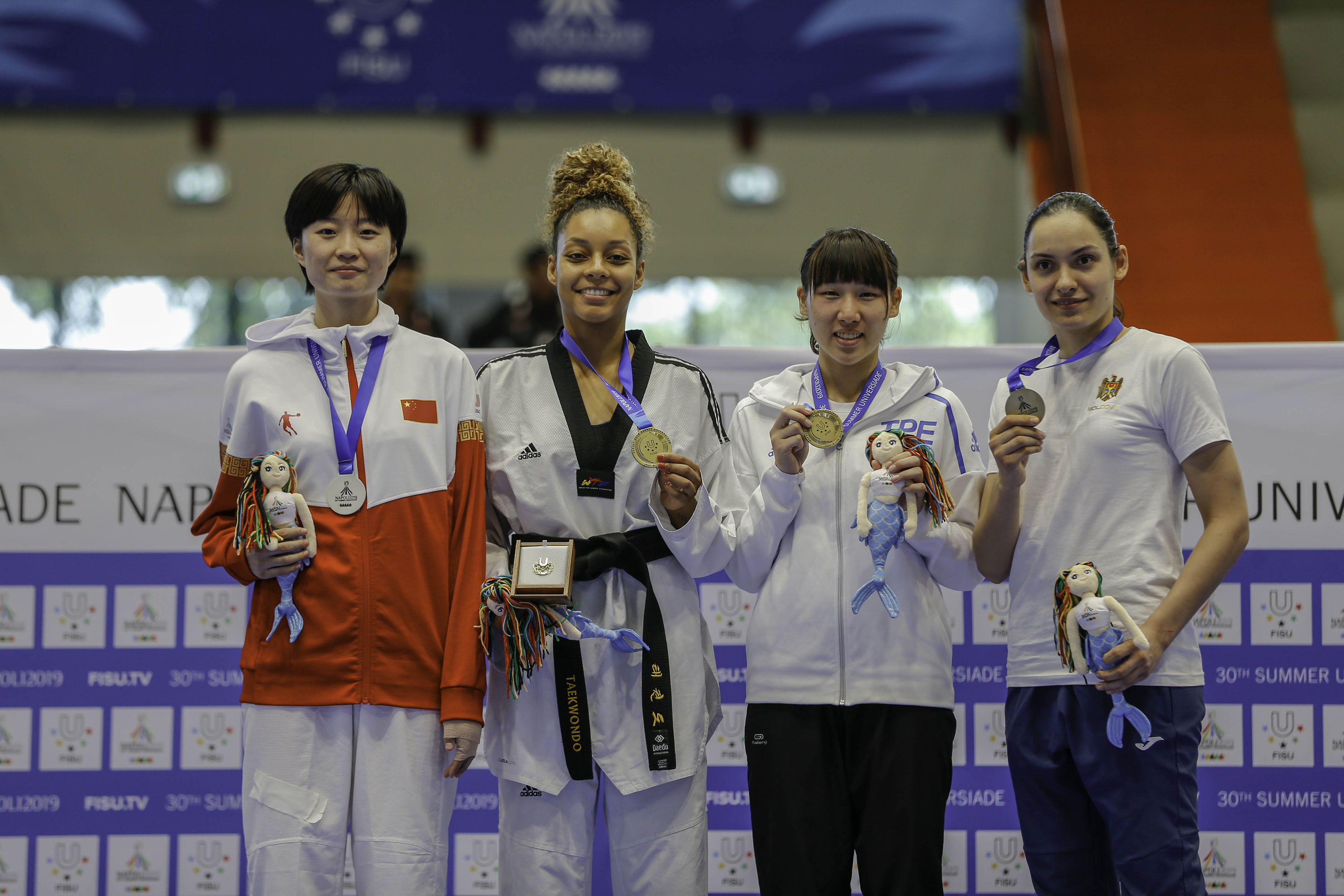 Taekwondo - 10-07-2019 Premiazioni POOL FOTOGRAFI UNIVERSIADE NAPOLI 2019
