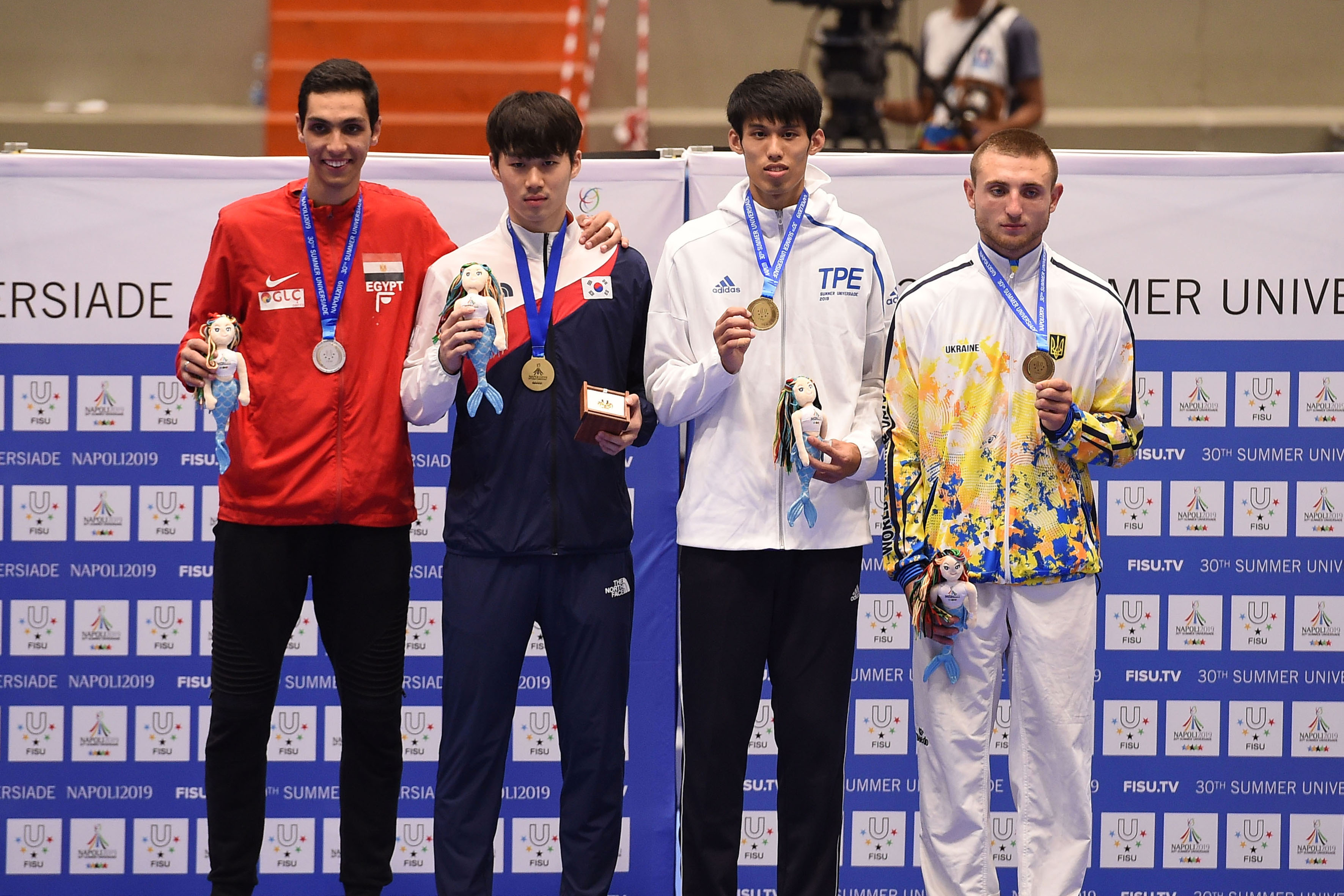 Taekwondo - 09-07-2019 Premiazioni FOTO POOL FOTOGRAFI UNIVERSIADE NAPOLI 2019