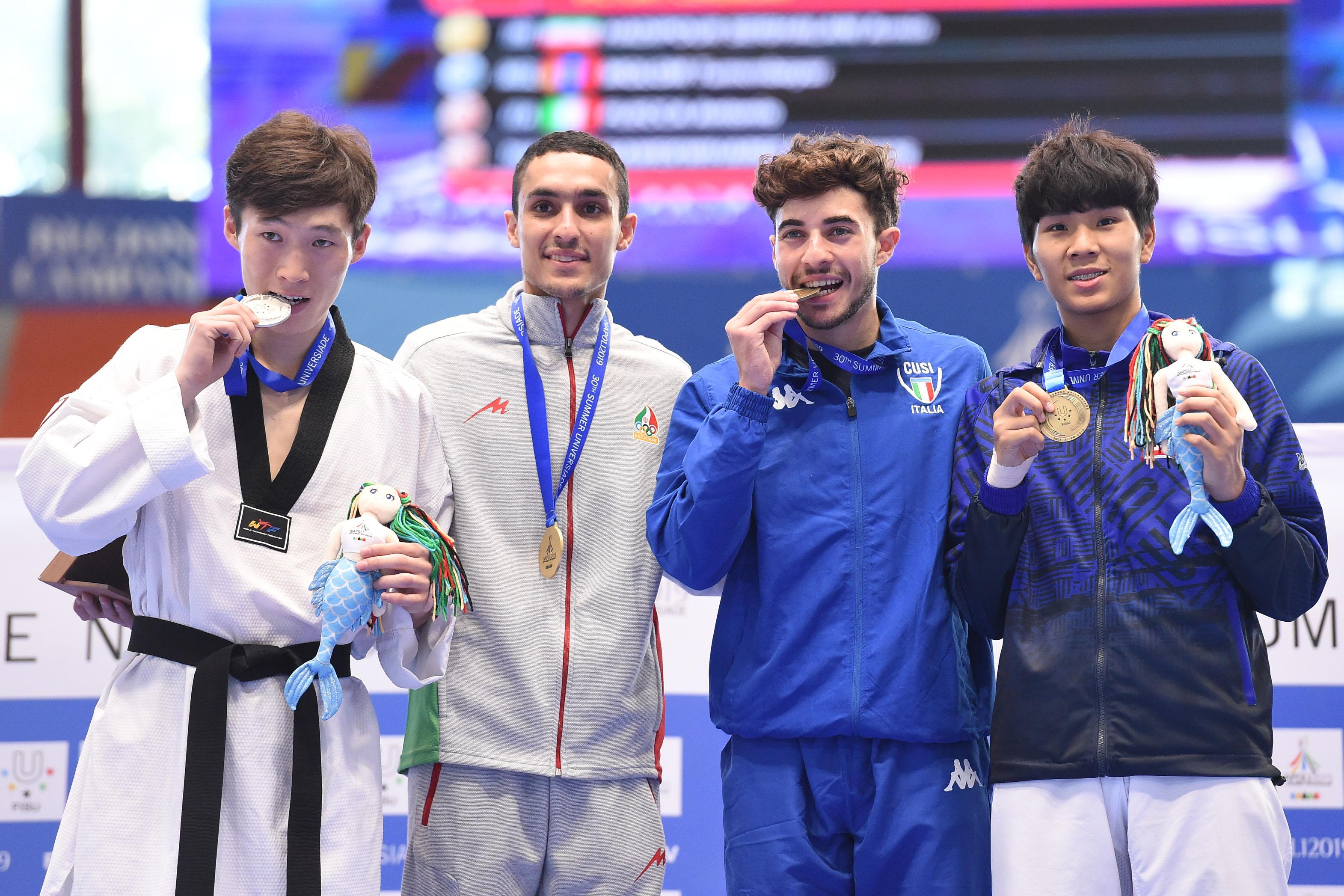 Taekwondo - 10-07-2019 Premiazioni men 58kg FLECCA ANTONIO MEDAGLIA DI BRONZO
