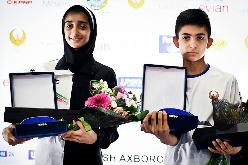 MVP -  Zafarbek Karimov (UZB, right) and Abbaspour Fazlabad Sanaz (IRI)