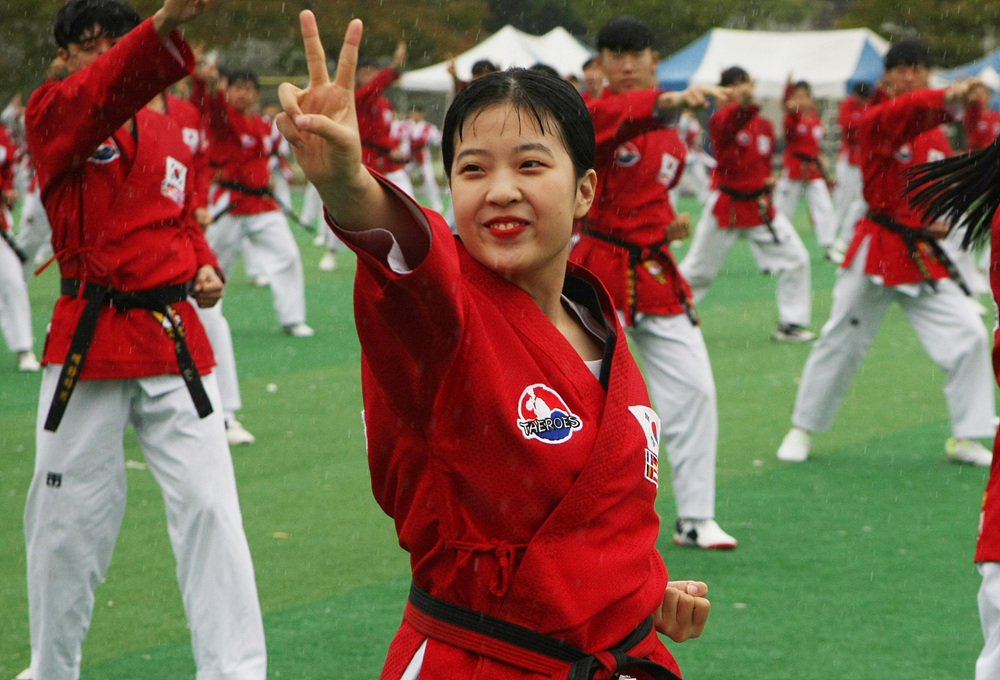 members of the GCS Global Taekwondo Peace Corps Korea