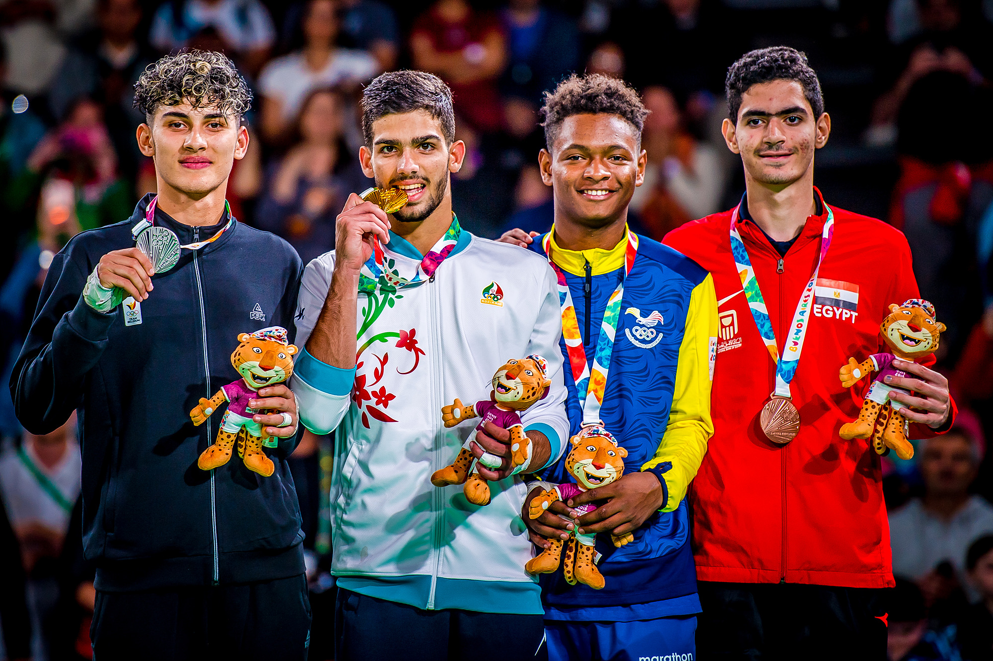 YOG (10.10.2018) Evening-68_Men -73kg medalists