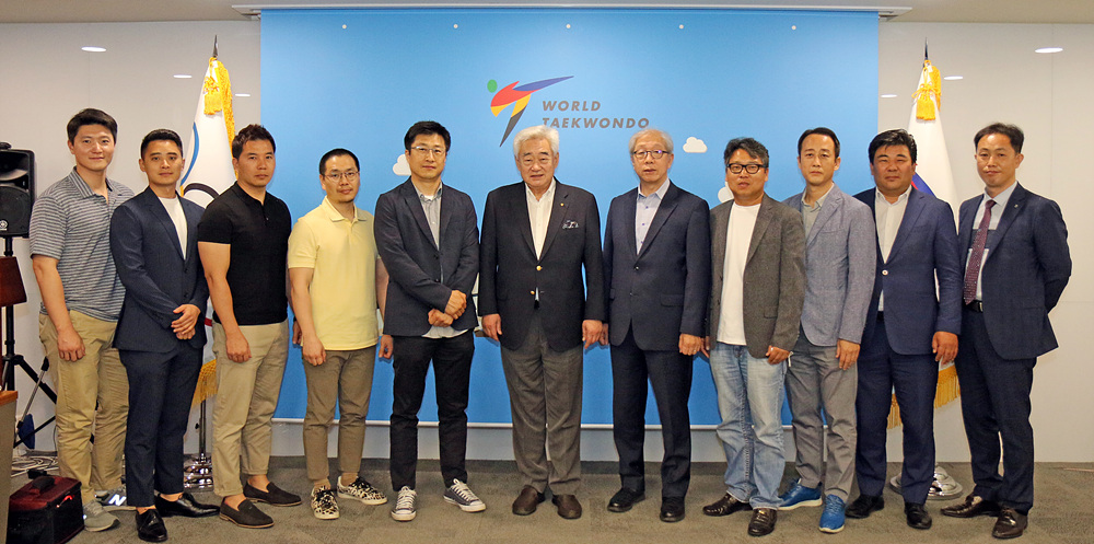 WT President Chungwon Choue with WT recognized companies