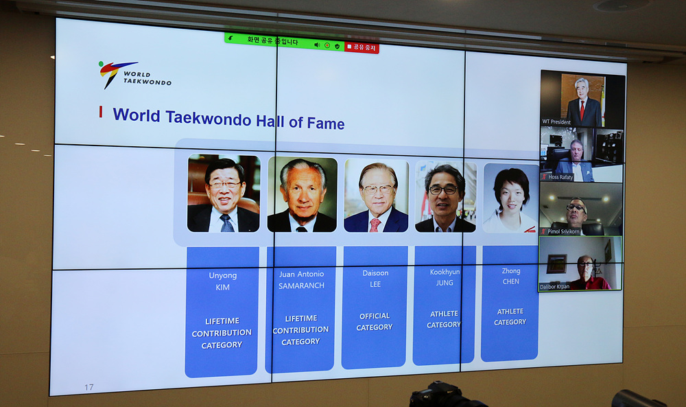 Announcement of WT Hall of Fame during the WT Virtual Extraordinary Council Meeting
