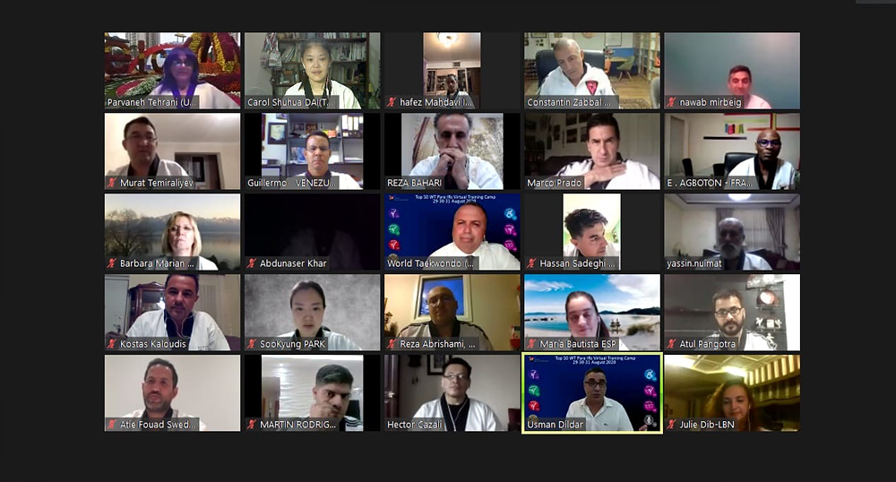Virtual Training of Top 50 WT International Referees for Tokyo 2020 Paralympic_Photo 9